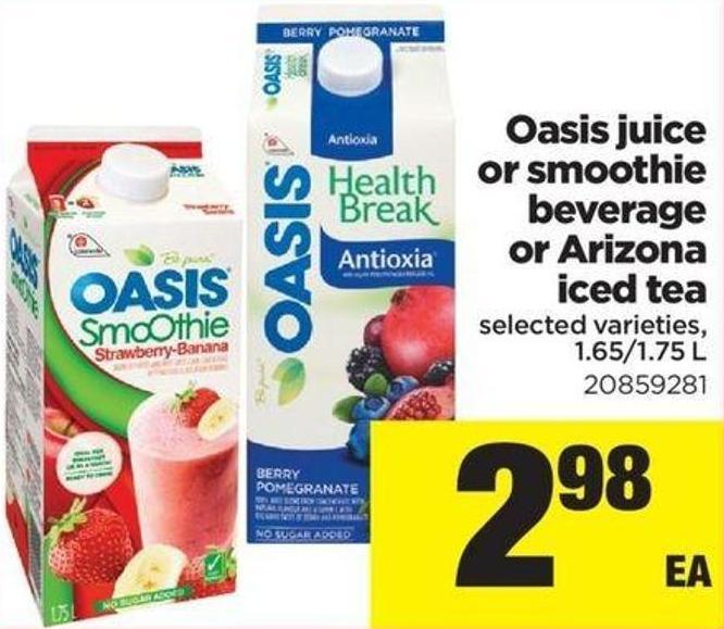 Oasis Juice Or Smoothie Beverage Or Arizona Iced Tea - 1.65/1.75 L