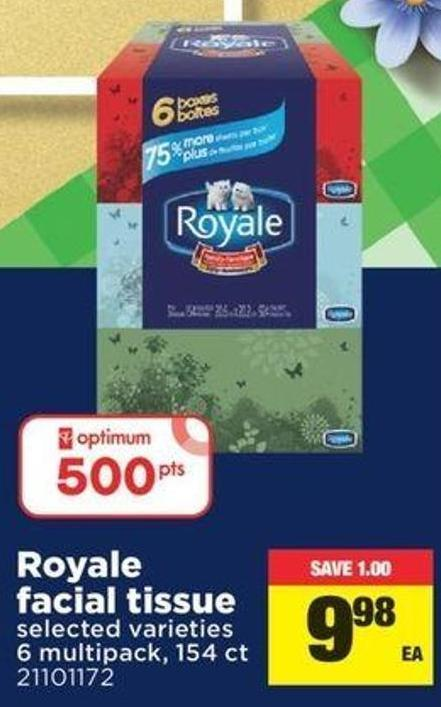Royale Facial Tissue - 6 Multipack - 154 Ct