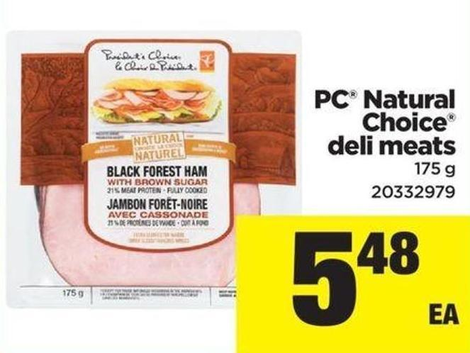 PC Natural Choice Deli Meats - 175 g