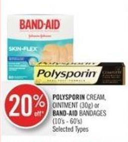 Polysporin Cream - Ointment (30g) or Band-aid Bandages (10's - 60's)