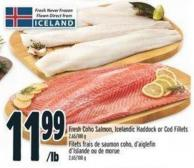 Fresh Coho Salmon - Icelandic Haddock Or Cod Fillets