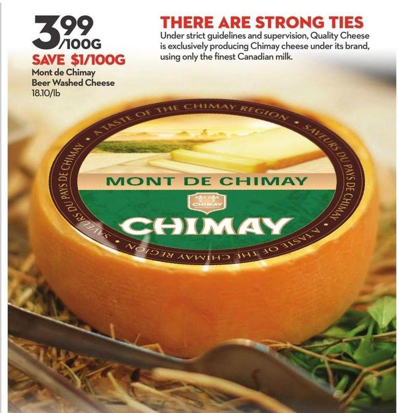 Mont de Chimay Beer Washed Cheese