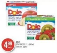 Dole Beverages 12 X 340ml