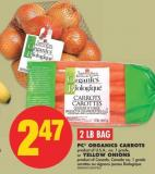 PC Organics Carrots or Yellow Onions - 2 Lb Bag