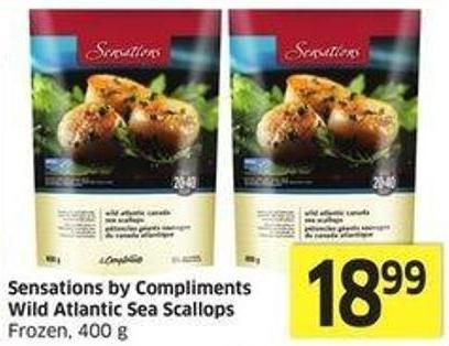 Sensations By Compliments Wild Atlantic Sea Scallops