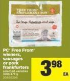 PC Free From Wieners - Sausages Or Pork Frankfurters - 300/375 g