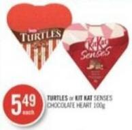 Turtles or Kit Kat Senses Chocolate Heart 100 g