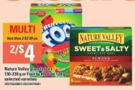 Nature Valley Granola Bars 130-230 G Or Fruit By The Foot 128 G