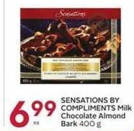 Sensations By Compliments Milk Chocolate Almond Bark