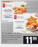 PC - Blue Menu - Free From Or Gluten-free Turkey Or Chicken Breast Strips - Fillets Or Tenders - 750 /907 g