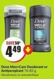 Dove Men +Care Deodorant or Antiperspirant 76-85 g