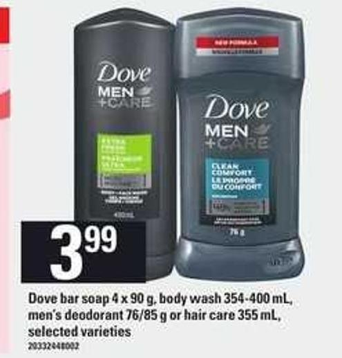 Dove Bar Soap - 4 X 90 g - Body Wash - 354-400 Ml - Men's Deodorant - 76/85 g Or Hair Care - 355 Ml
