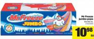 Mr Freeze Jumbo Pops - 60x150 mL