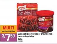 Duncan Hines Frosting or Brownie Mix - 450 g