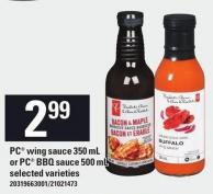 PC Wing Sauce - 350 Ml Or PC Bbq Sauce - 500 Ml