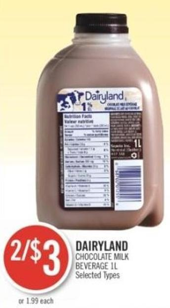 Dairyland Chocolate Milk Beverage 1l