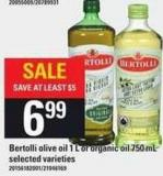Bertolli Olive Oil - 1 L Or Organic Oil - 750 Ml