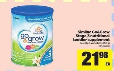 Similac Go&grow Stage 3 Nutritional Toddler Supplement - 850 G