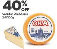 Canadian Oka Cheese 2.81/100g