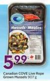 Canadian Cove Live Rope-grown Mussels 907 g