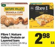 Fibre 1 - Nature Valley Protein Or Layered Bars - 125-191 g