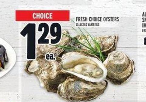 Fresh Choice Oysters