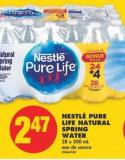 Nestlé Pure Life Natural Spring Water - 28 X 500 mL