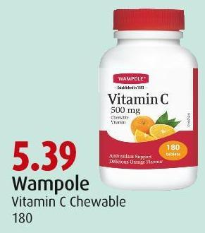 Wampole Vitamin C Chewable 180