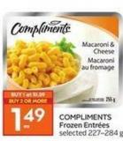 Compliments Frozen Entr'es Selected 227?284 g