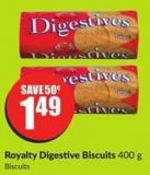 Royalty Digestive Biscuits 400 g