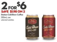 Station Cold Brew Coffee 355ml Can