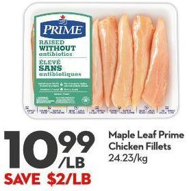 Maple Leaf Prime  Chicken Fillets