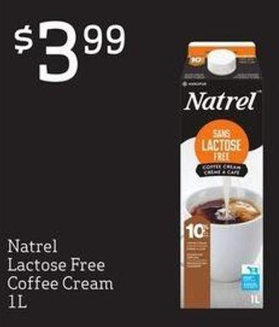 Natrel Lactose Free Coffee Cream - 1 L
