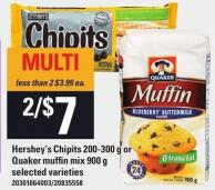 Hershey's Chipits - 200-300 G Or Quaker Muffin Mix - 900 G