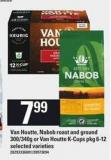 Van Houtte - Nabob Roast And Ground 300/340g Or Van Houtte K-cups Pkg 6-12