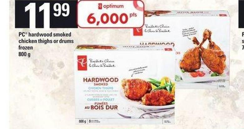 PC Hardwood Smoked Chicken Thighs Or Drums - 800 g