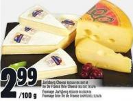 Jarlsberg Cheese Regular Or Light Or Ile De France Brie Cheese Deli Cut - 13.56/lb