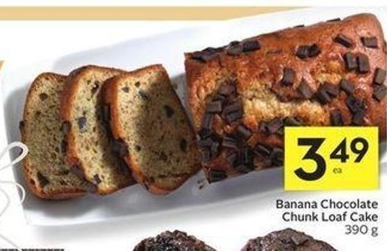 Banana Chocolate Chunk Loaf Cake
