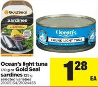 Ocean's Light Tuna - 170 G Or Gold Seal Sardines - 125 G