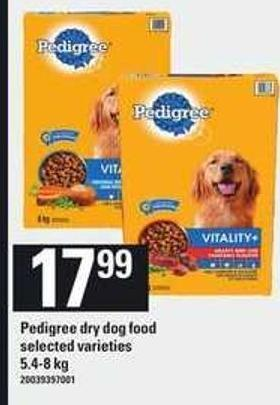 Pedigree Dry Dog Food - 5.4/8 Kg