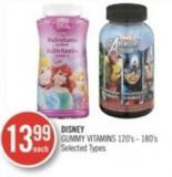 Disney Gummy Vitamins 120's-180's