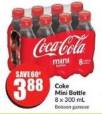 Coke Mini Bottle 8 X 300 mL