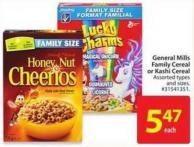 General Mills Family Cereal or Kashi Cereal