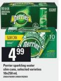Perrier Sparkling Water Slim Cans - 10x250 mL