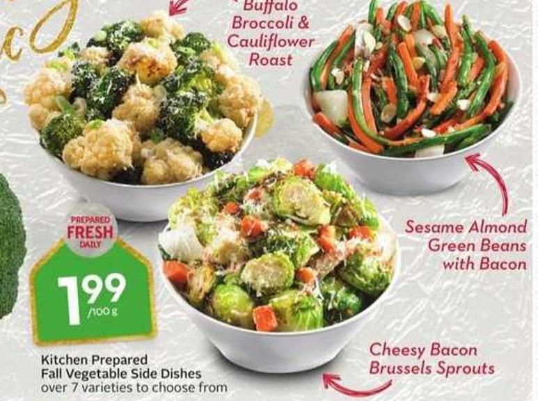 Kitchen Prepared Fall Vegetable Side Dishes