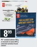 PC Smoked Salmon 150 G Or Mussels In Sauce 907 G