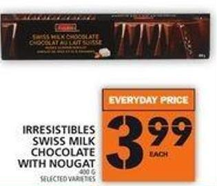 Irresistibles Swiss Milk Chocolate With Nougat
