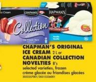 Chapman's Original Ice Cream 2 L or Canadian Colle