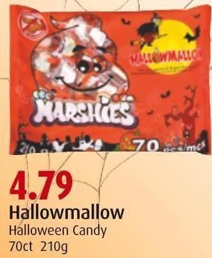 Hallowmallow Halloween Candy 70ct 210g