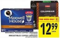 Maxwell House Coffee Capsules Or Irresistibles Coffee Capsules